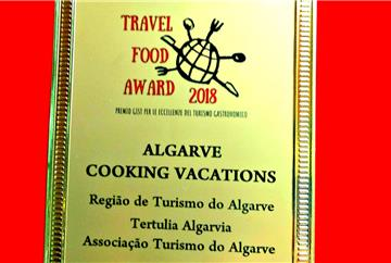 «Algarve Cooking Vacations» premiado nos Travel Food Awards 2018